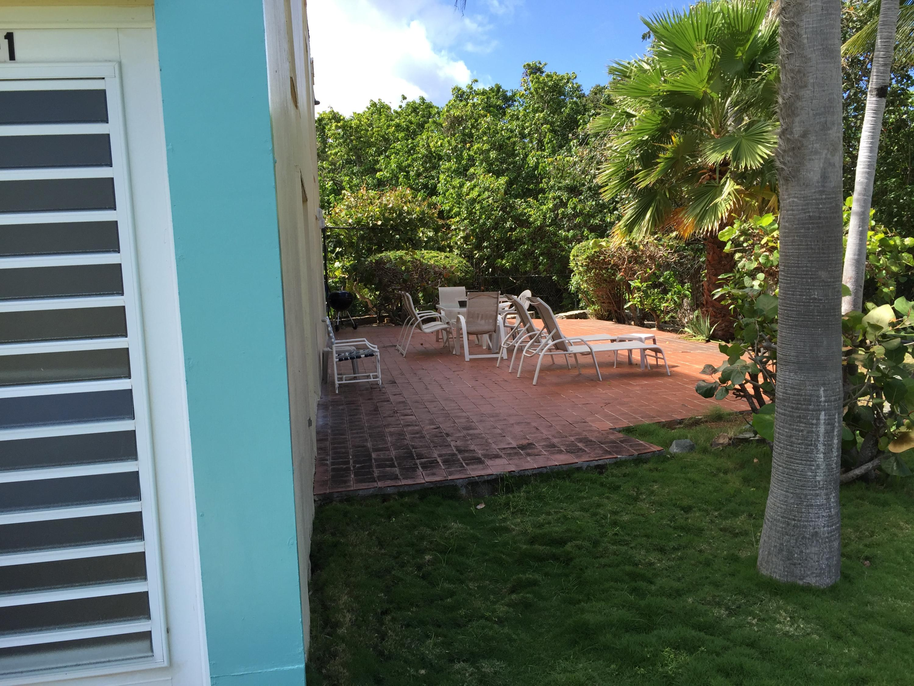 View of patio from Entry Door