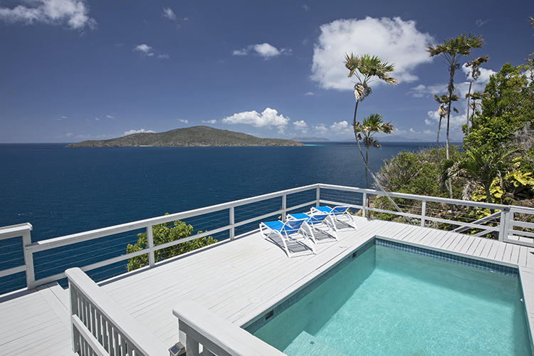 Crystal Clear views to Jost and Tortola