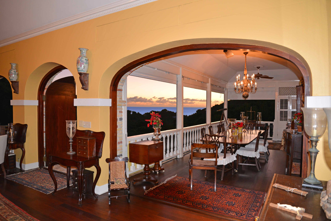 Dining Gallery showing ocean view