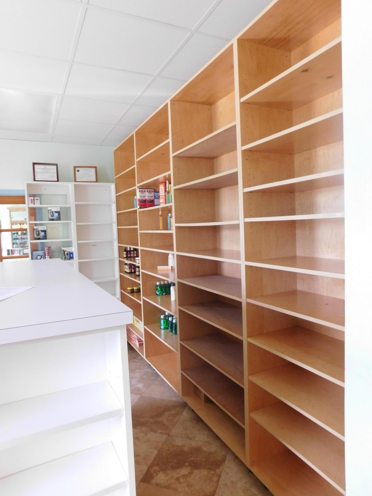 Lots of shelving to display products