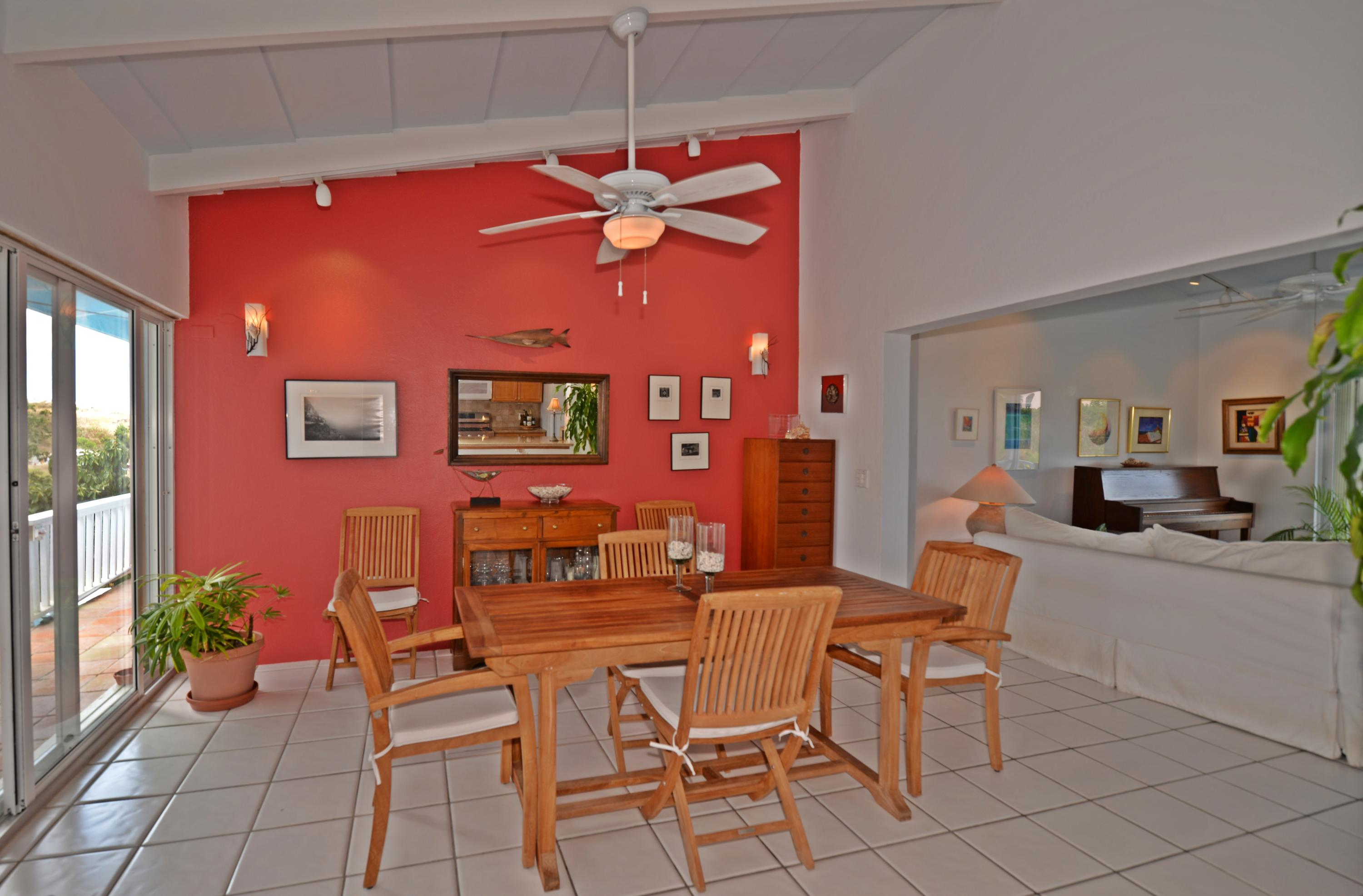 Dining area off of pool and kitchen