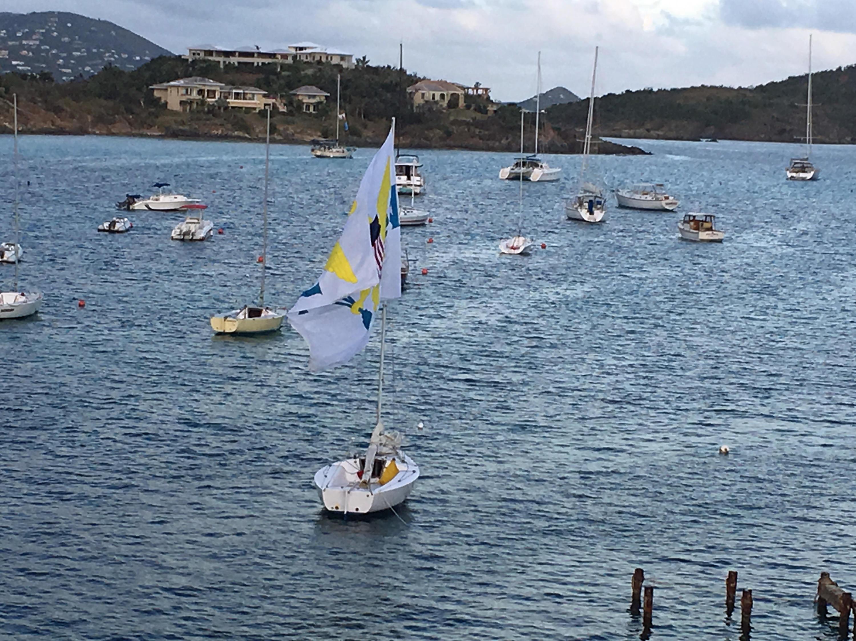 Sailboatw flagi CB