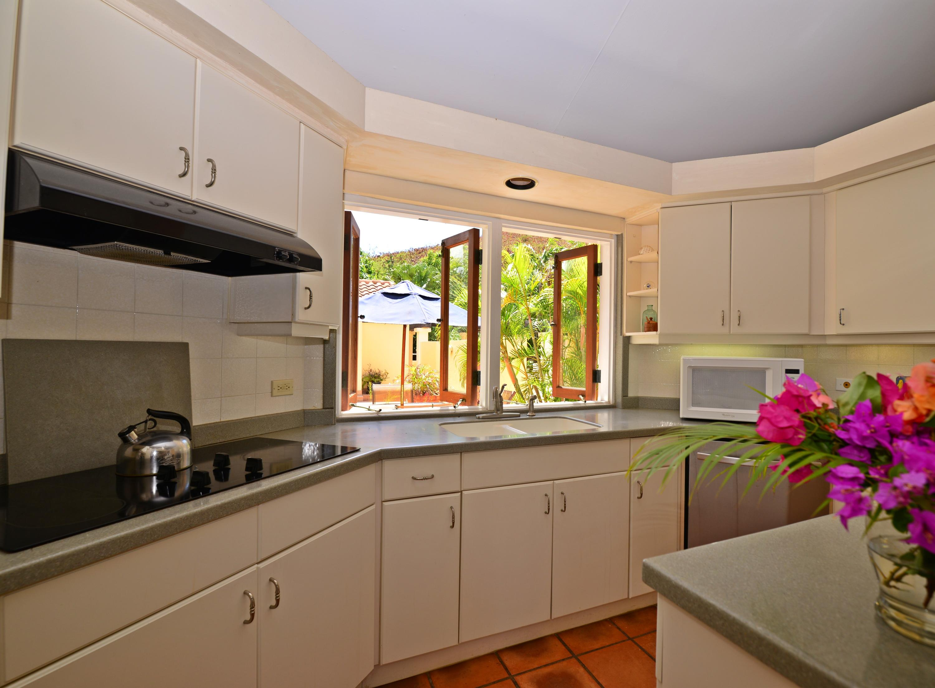 Kitchen with island off Great Room