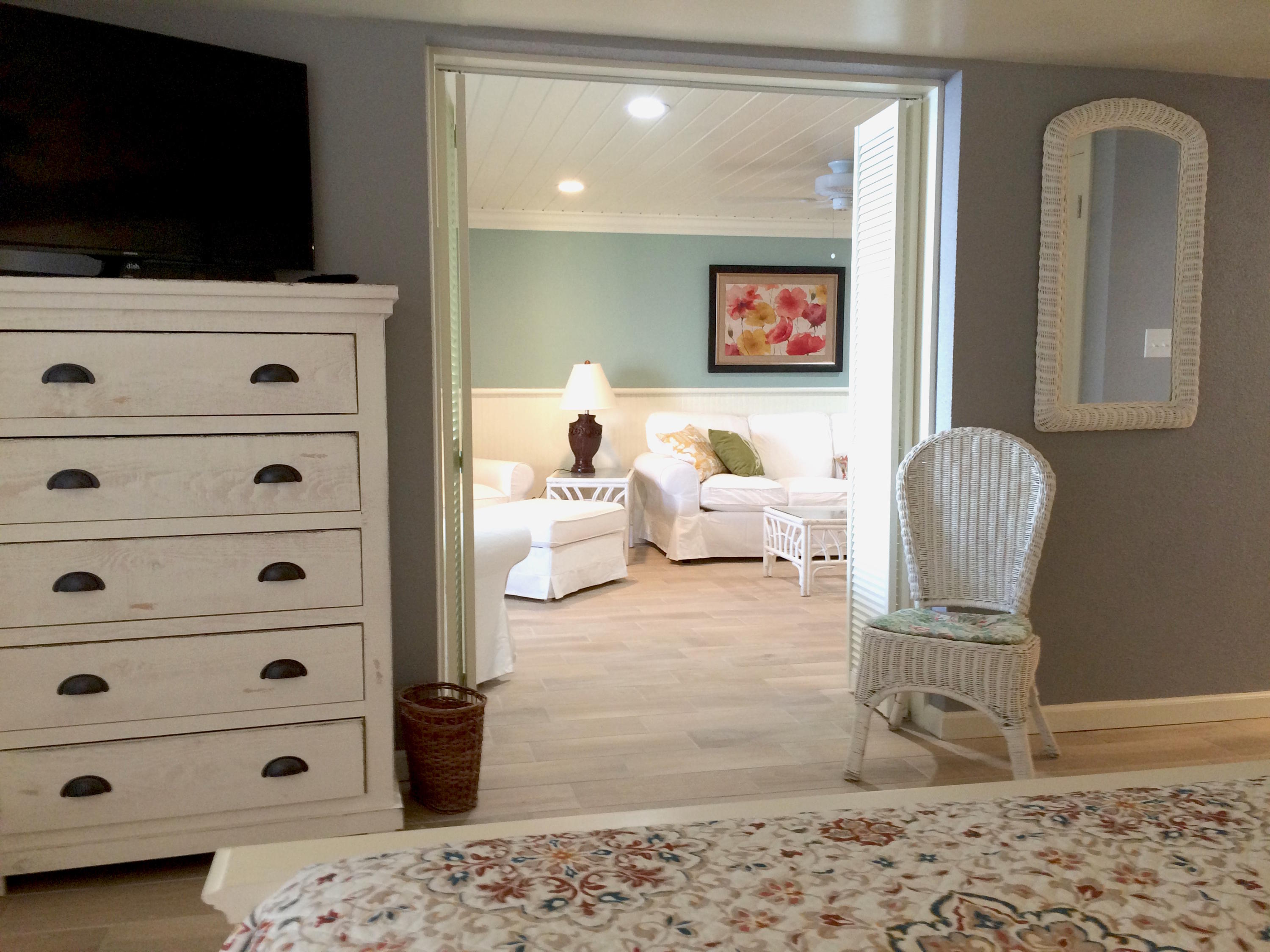 Master Bedroom - view to dresser tv and