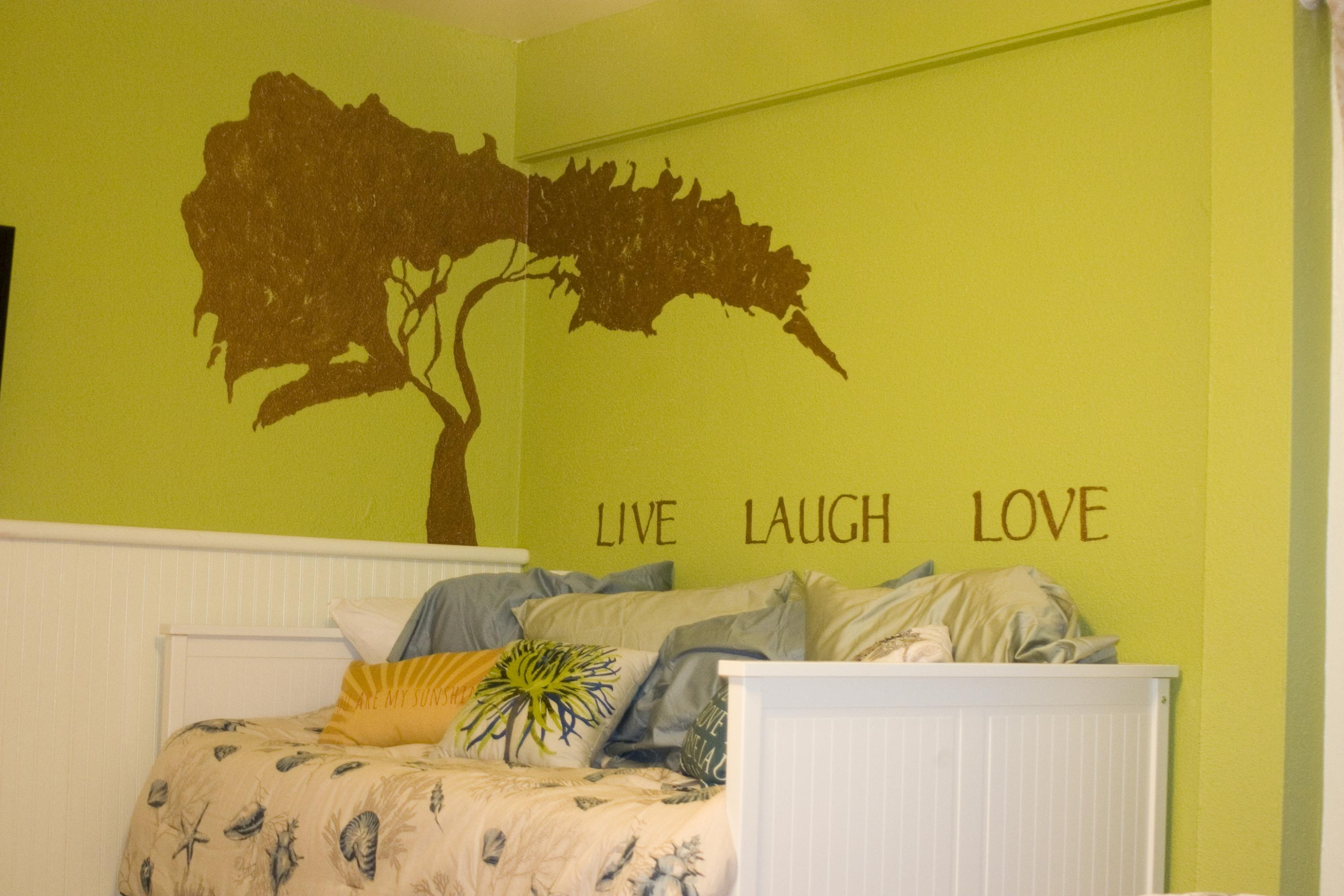 Guest Bedroom - Live Laugh Love - with t