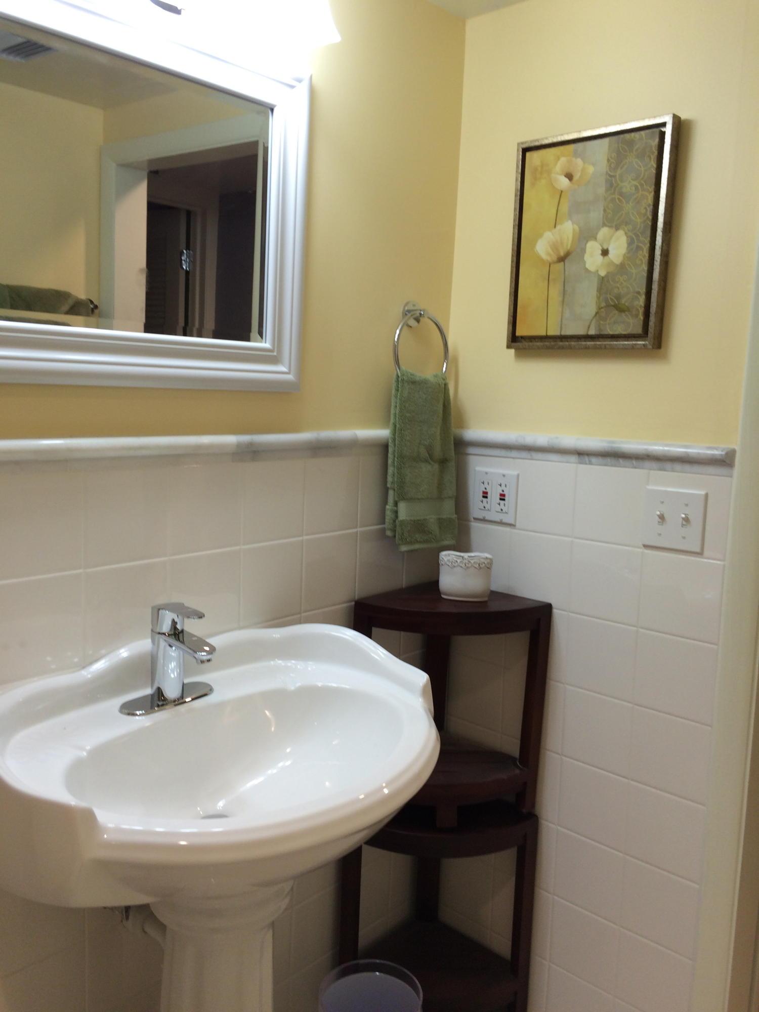 Guest Bathroom - sink closeup