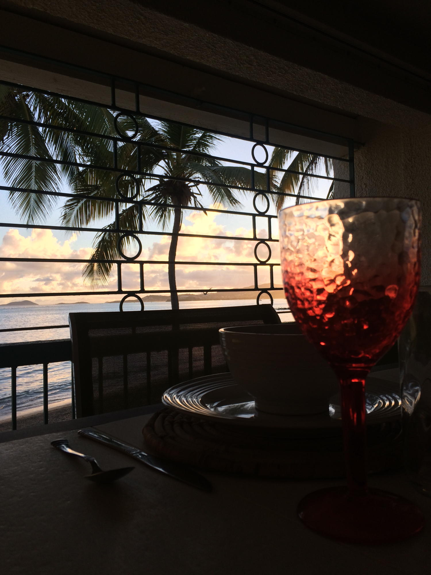 Porch - Lovely view with red wine glass