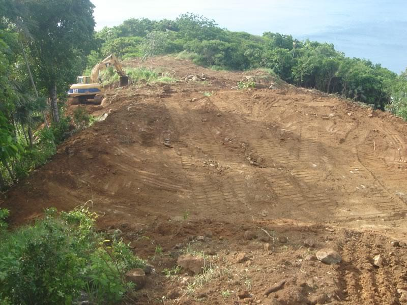 Flat building site