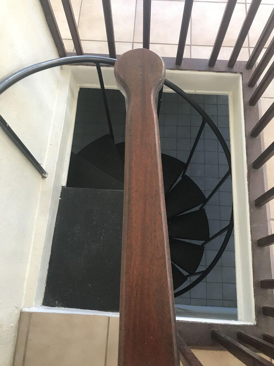 Spiral staircase to downstairs Apt.