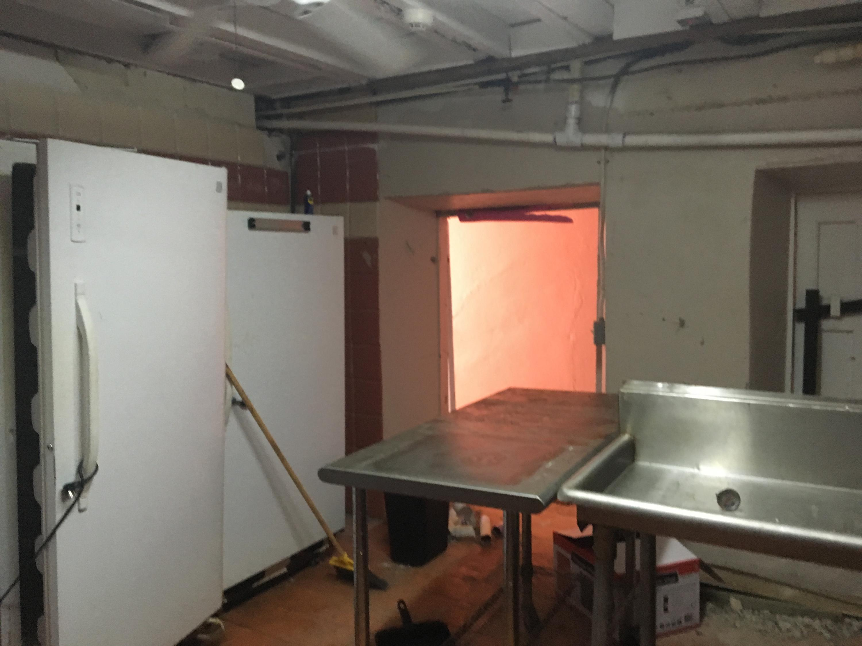 Freezer and dishwasher area