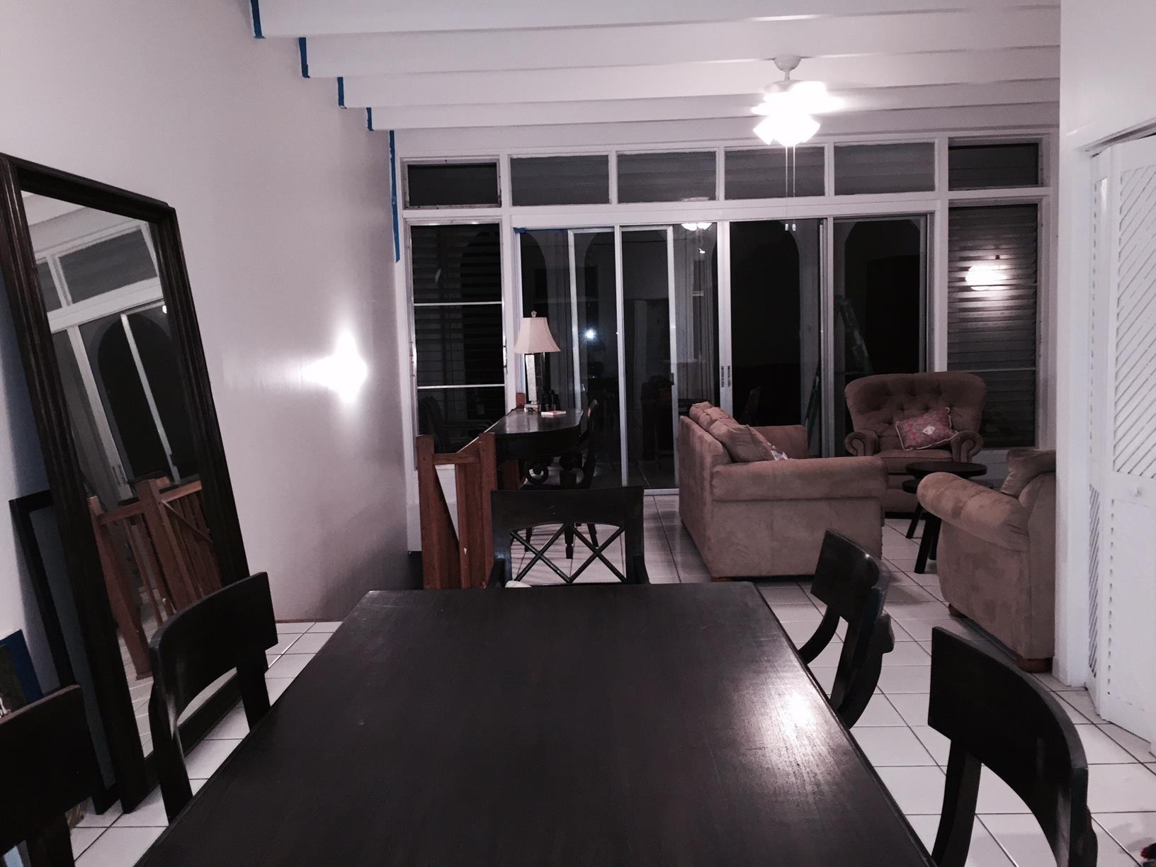 Upstairs living and dining areas