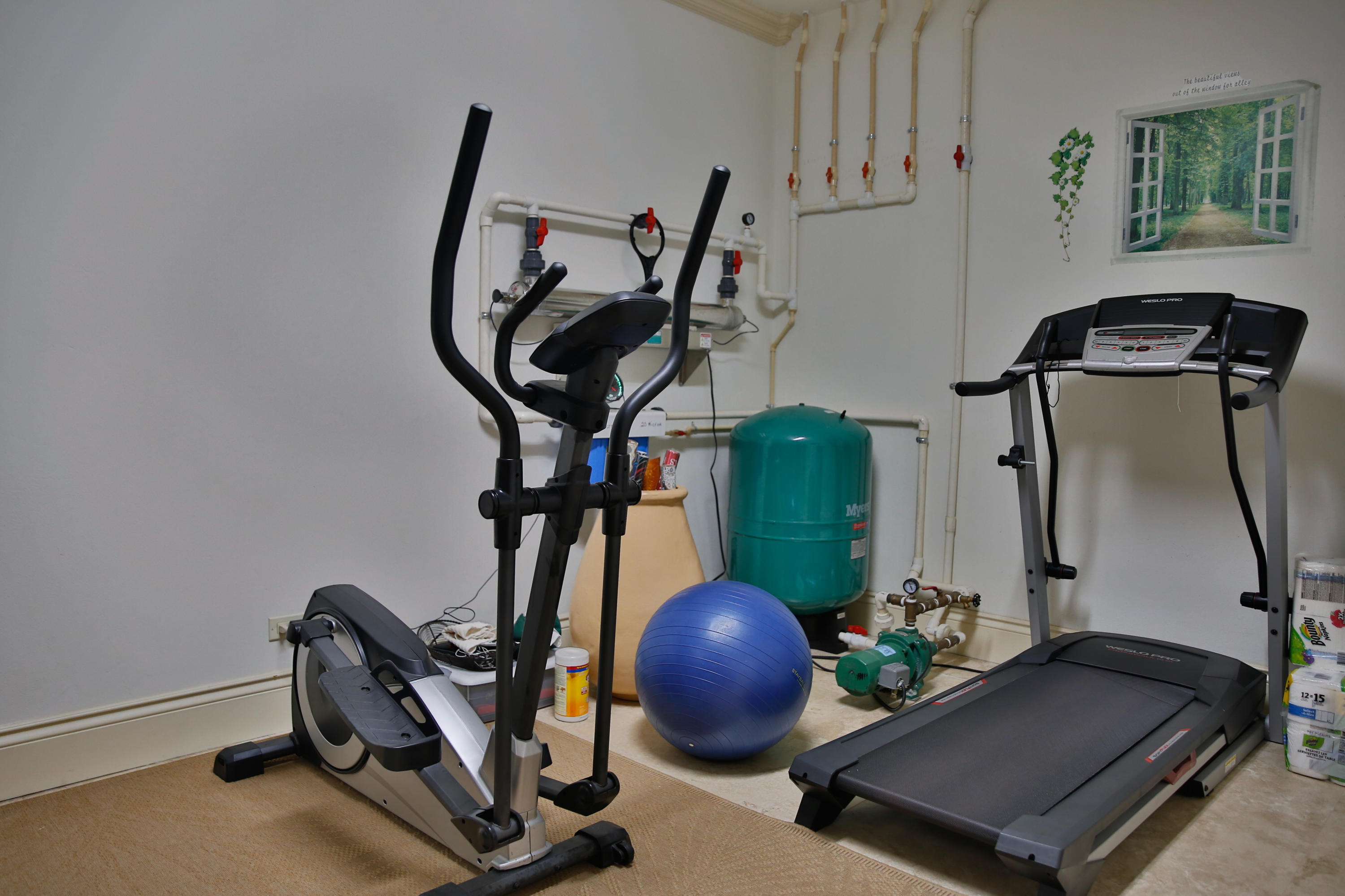 A room for exercise