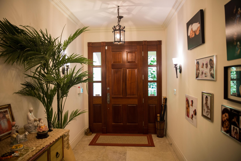 Grand Mahogany Door Entry