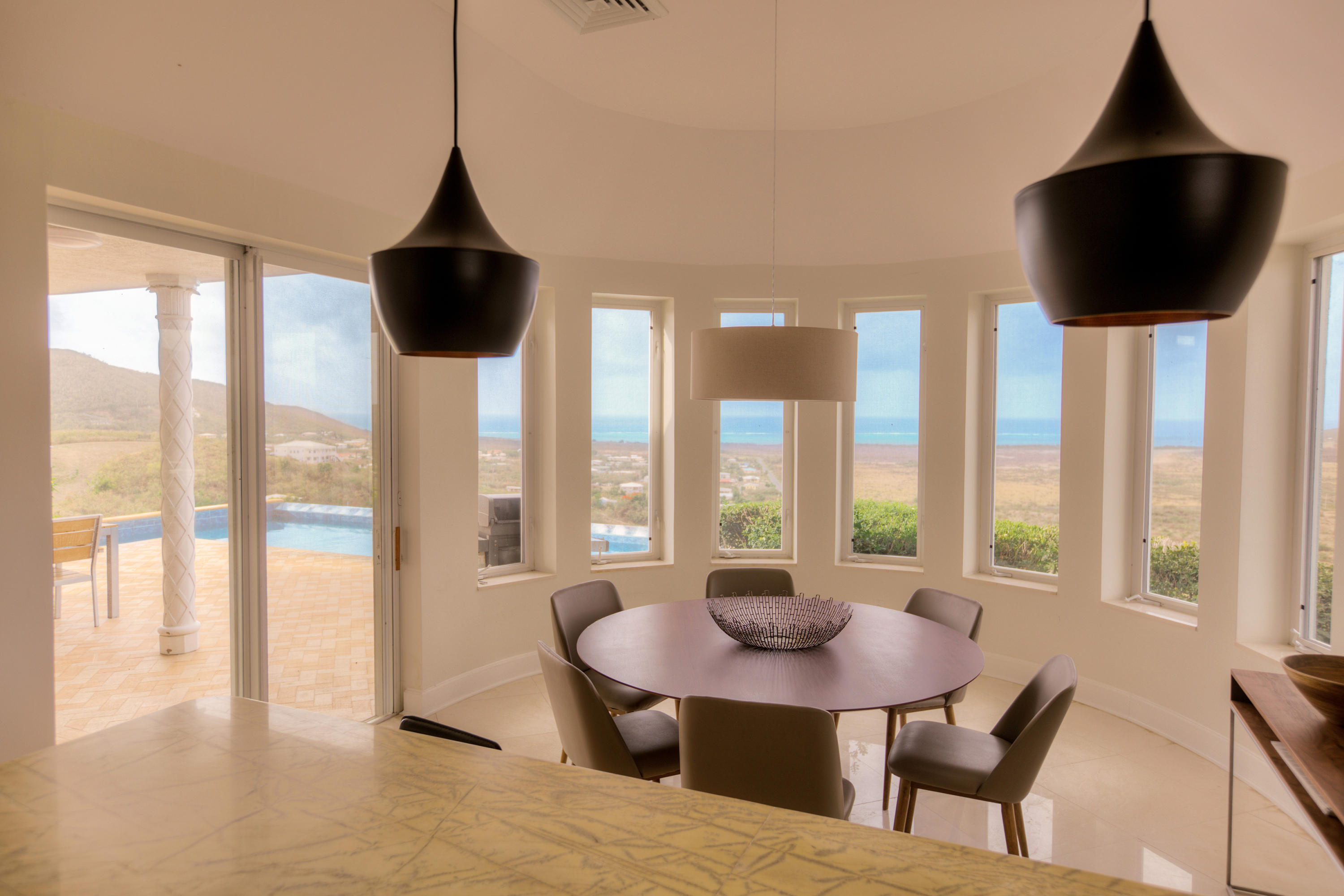 Dining room to pool