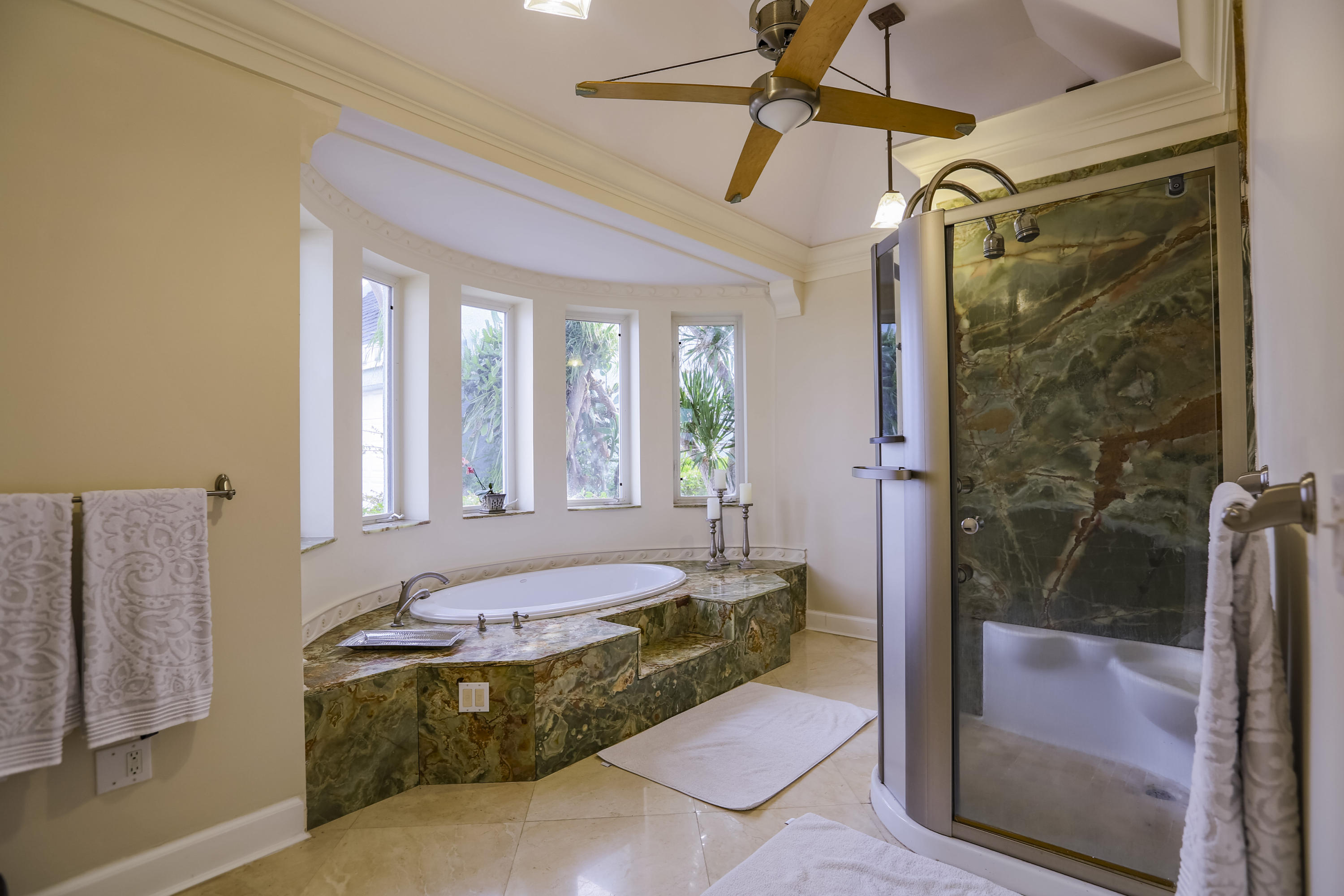 Master Tub & Shower with Amazing Views