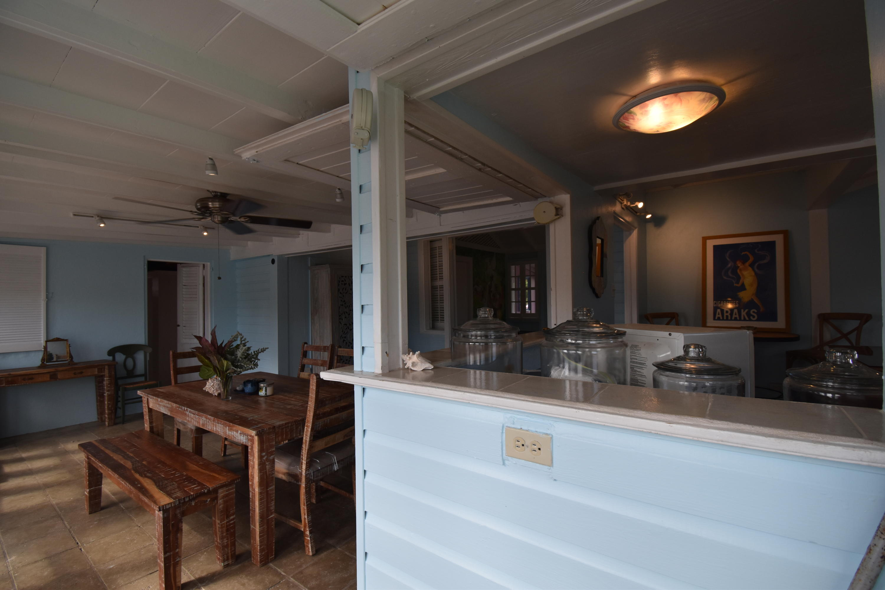 Kitchen Opens to Dining Room