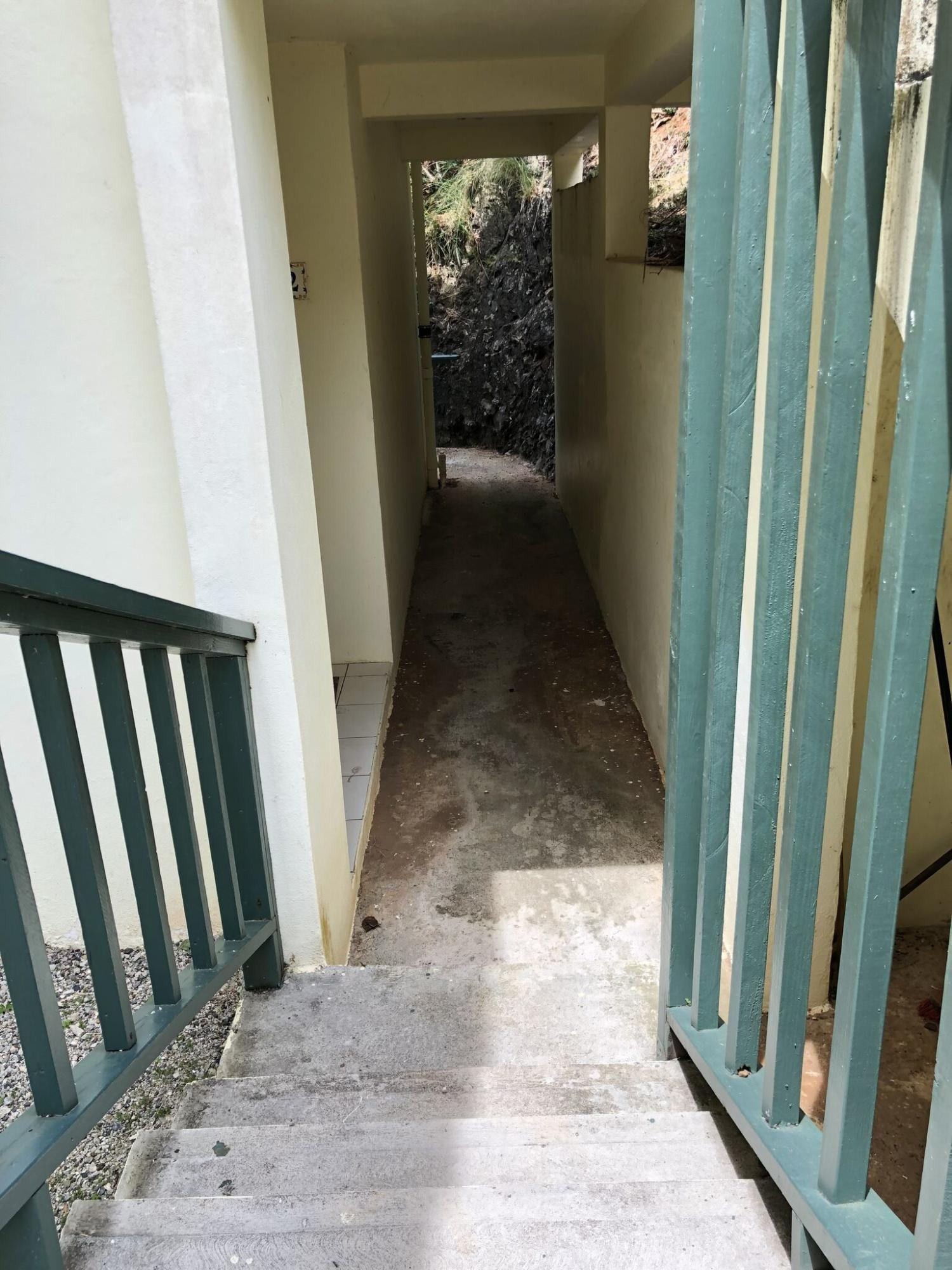 Staircase and passageway