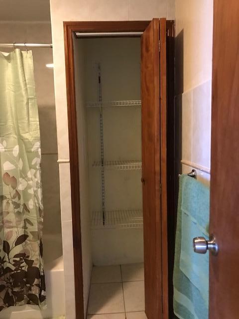linen closet in bathroom