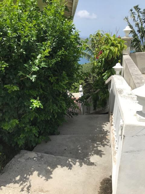 stairs down to apartment