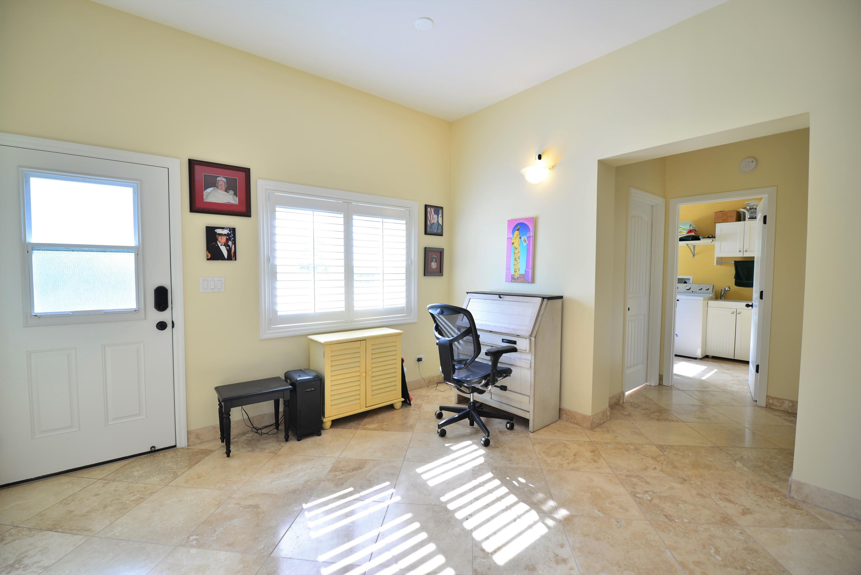 Office nook to laundry room