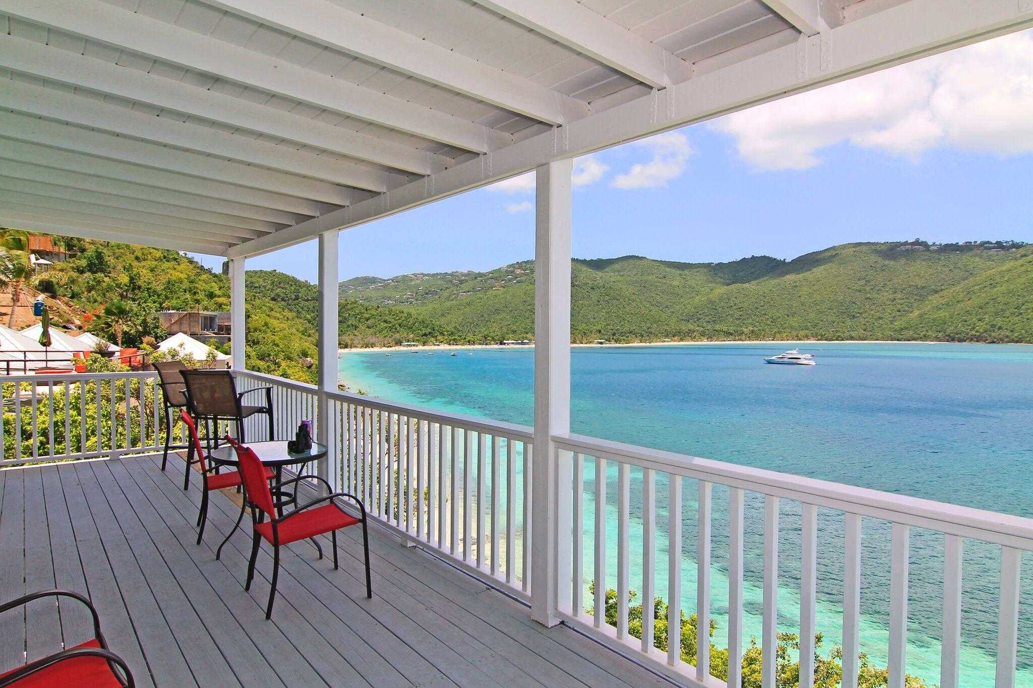 Lower deck by beach
