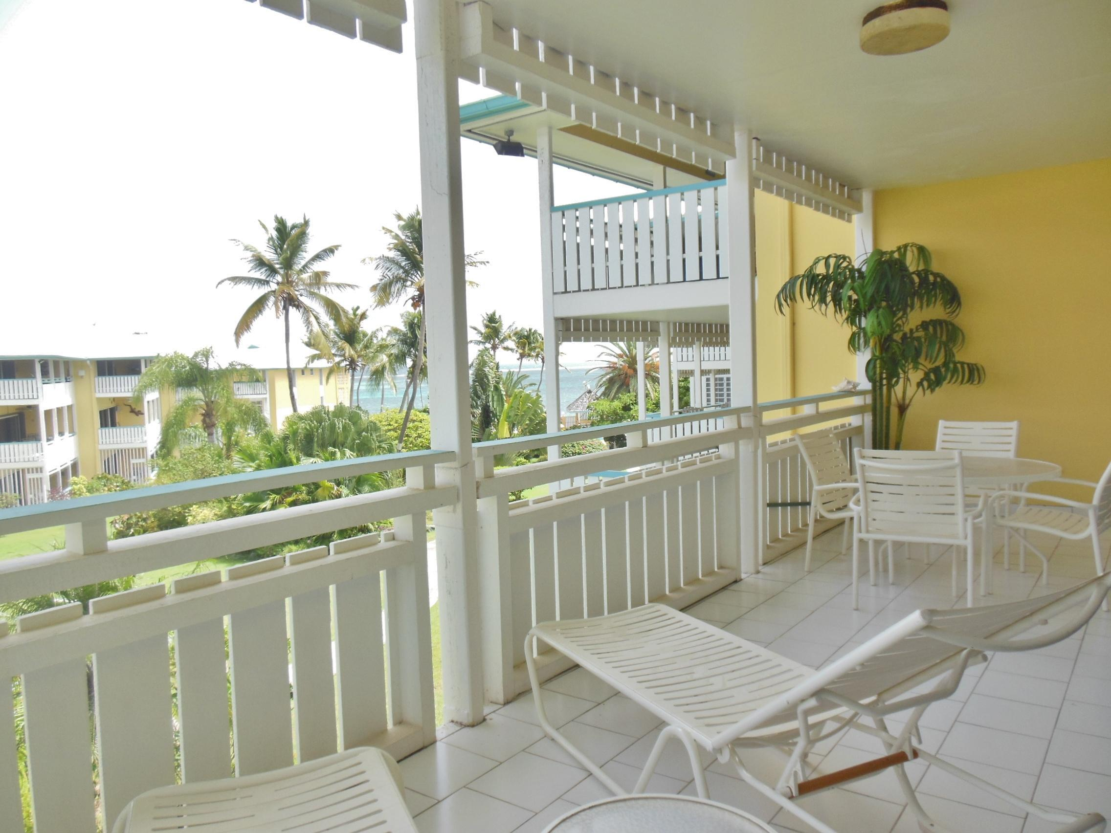 Balcony off of master and living area