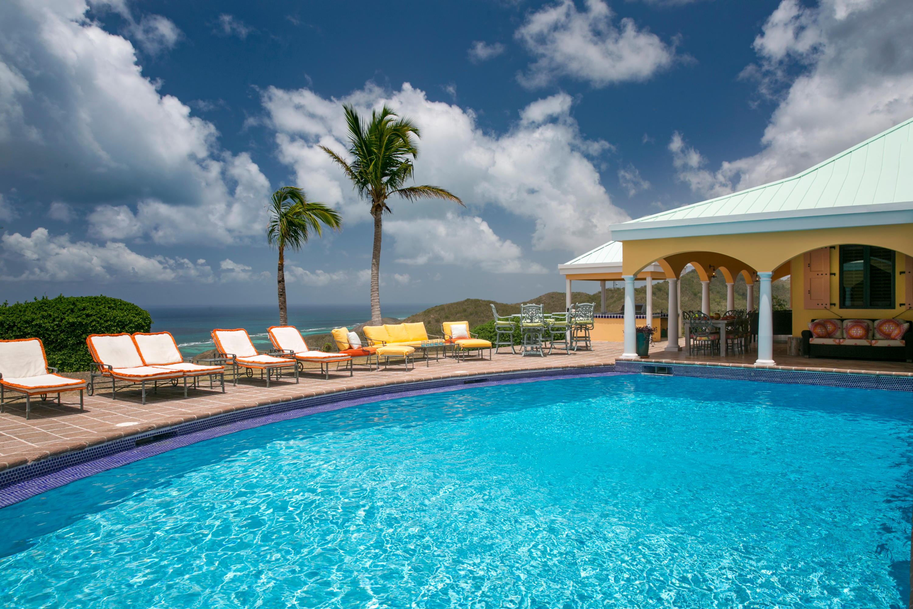 Pool Offers South Shore Views