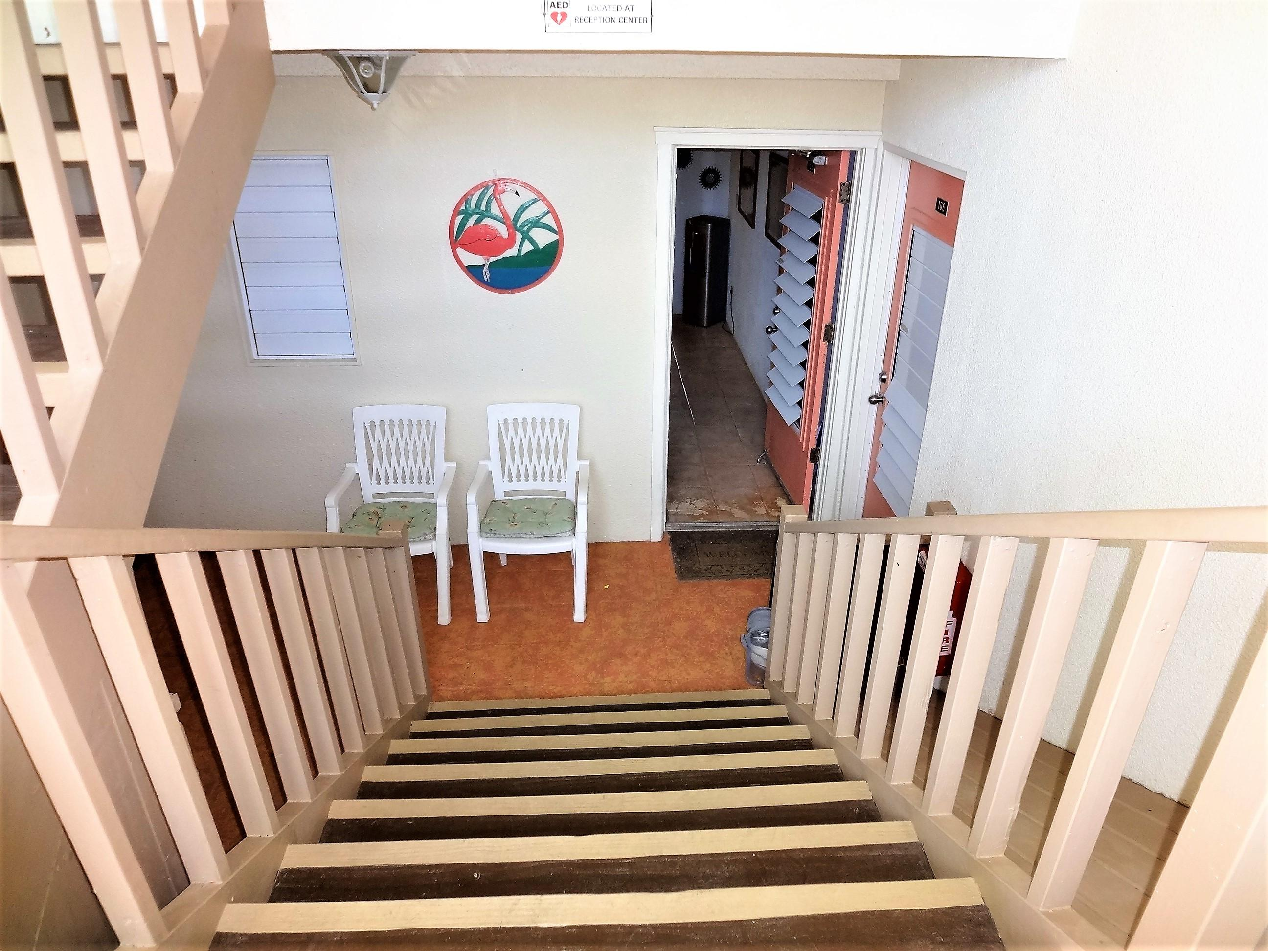 Stairs to Unit Entrance