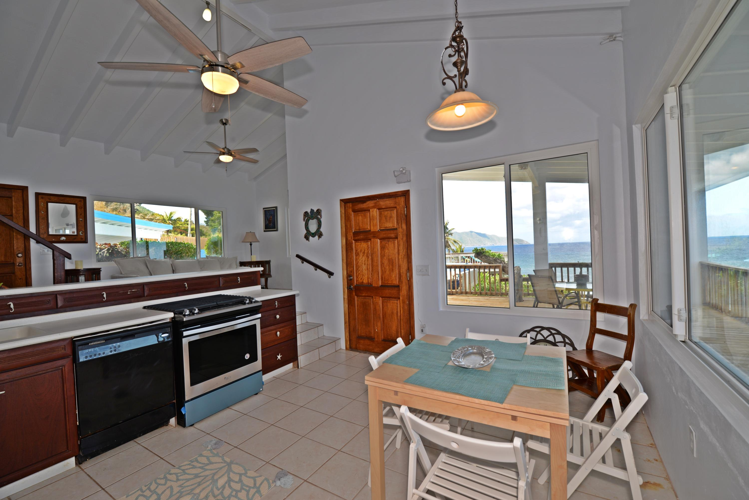 Kitchen with Hamms Bluff view