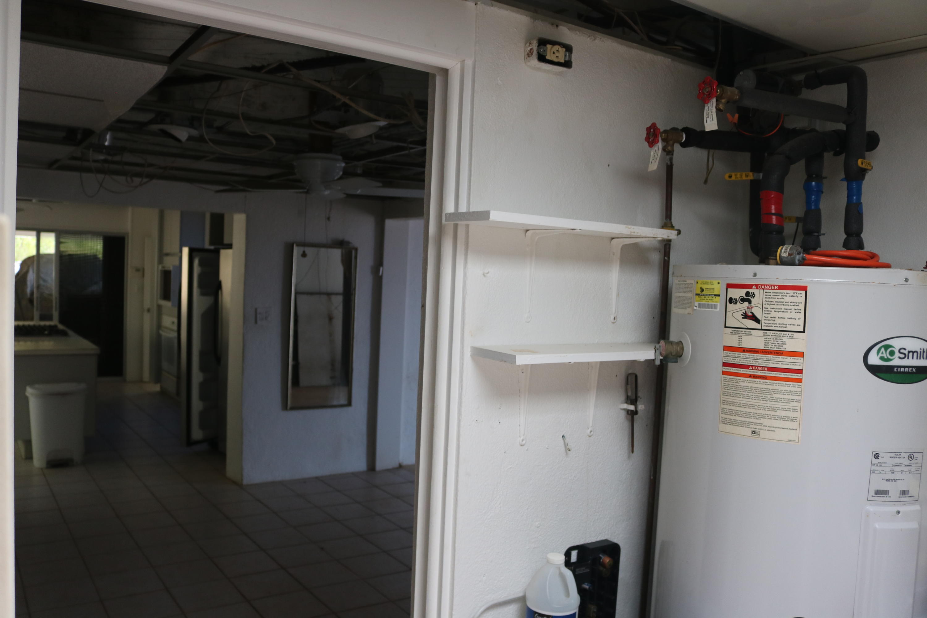 Pantry with 80-gal Water Heater