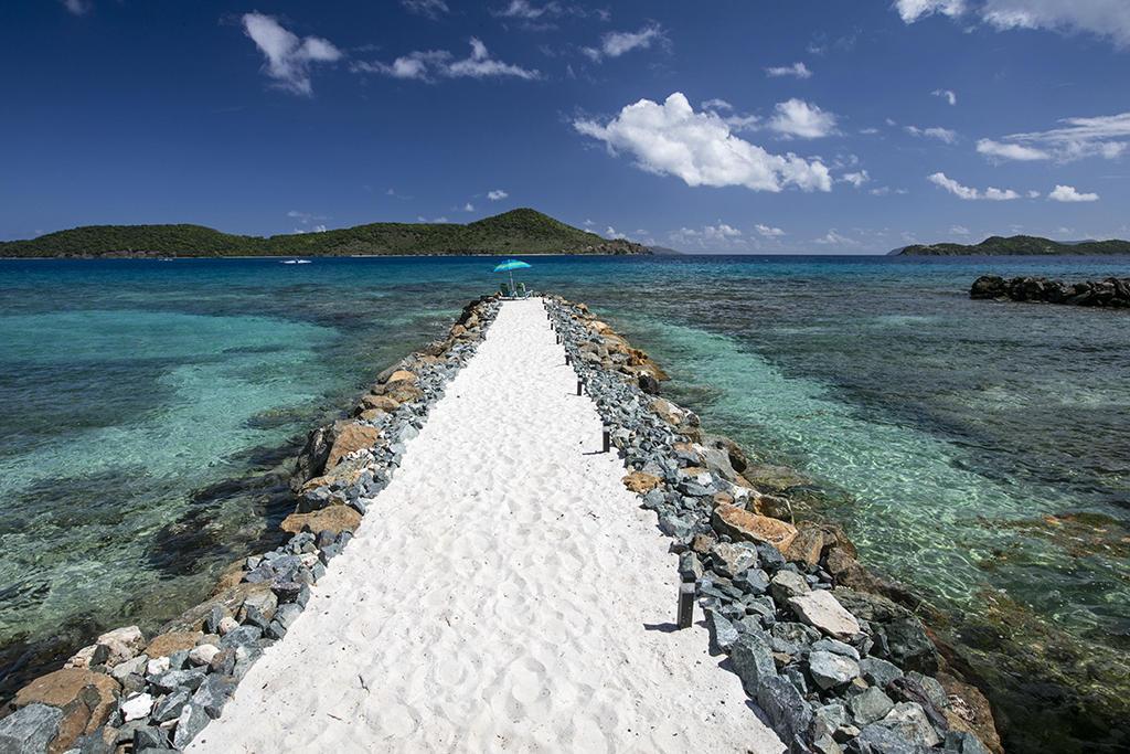 Sand walkway...