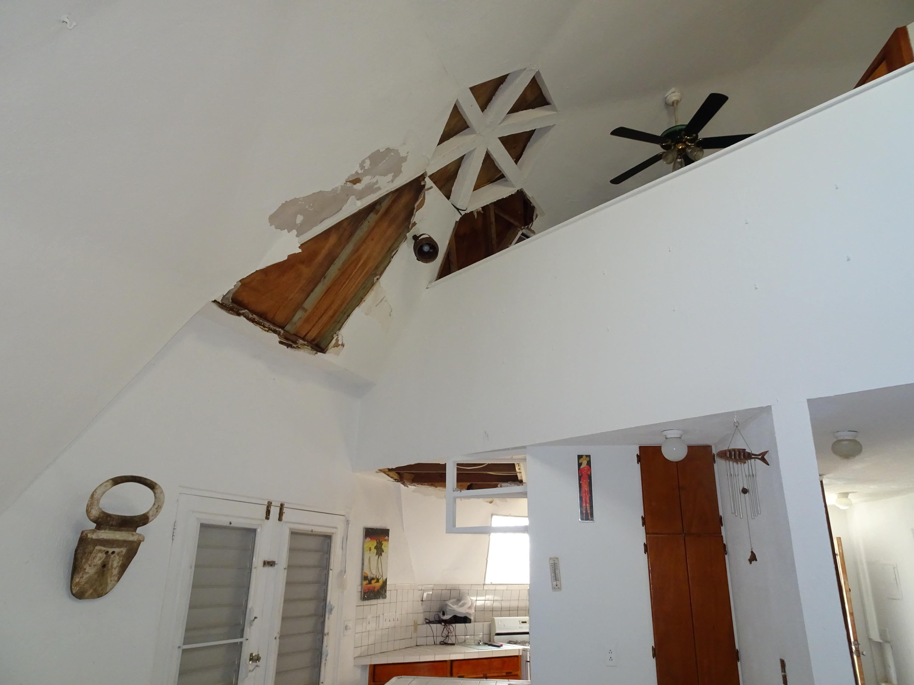 Ceiling Damage from Blown out Skylight
