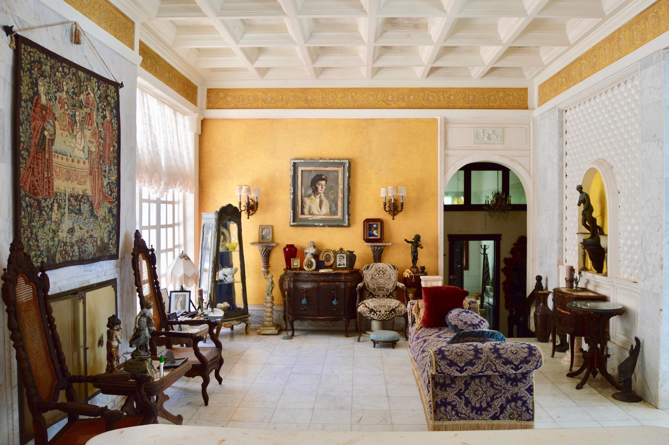 Living room of main house