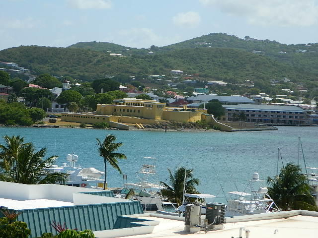 View to Fort and downtown Christiansted
