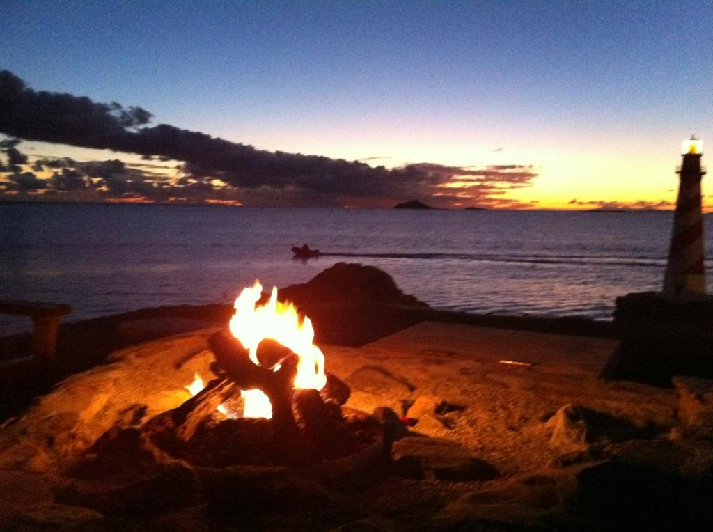 Fire pit and sunset