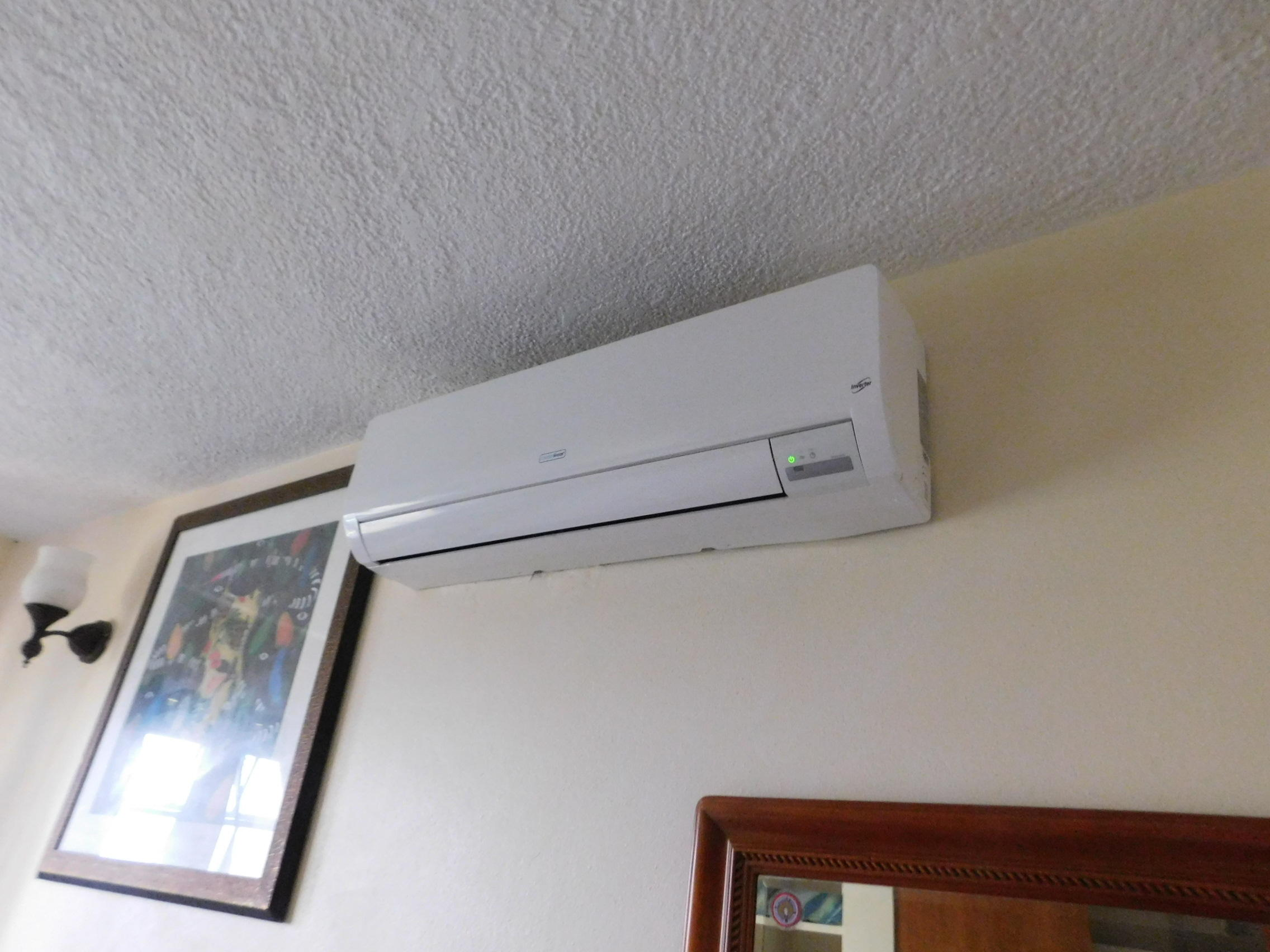 Split A/C in both bedrooms