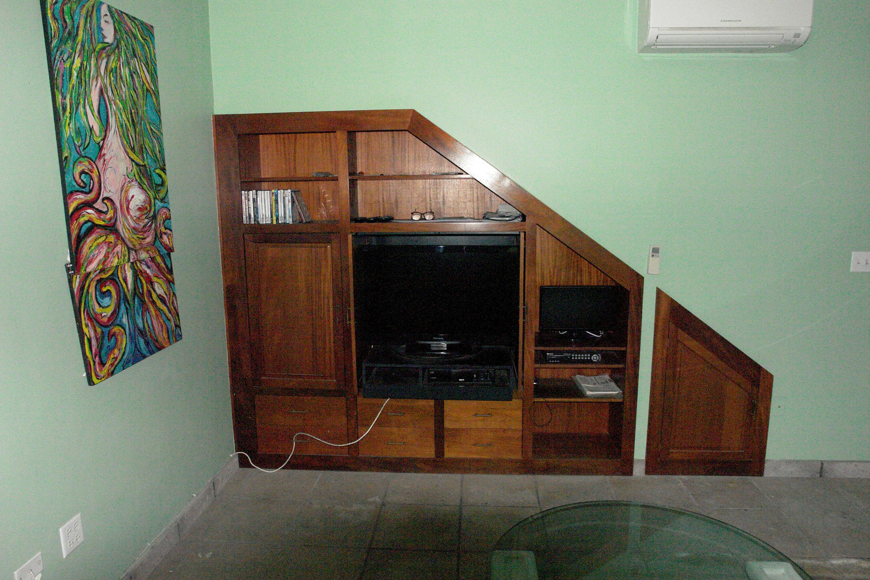 built in entertainment unit in family ro