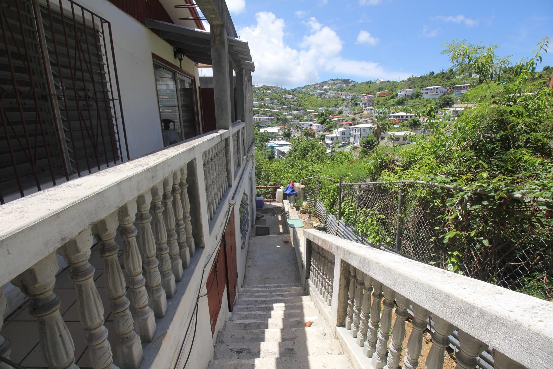 Walkway to downstairs Apartment