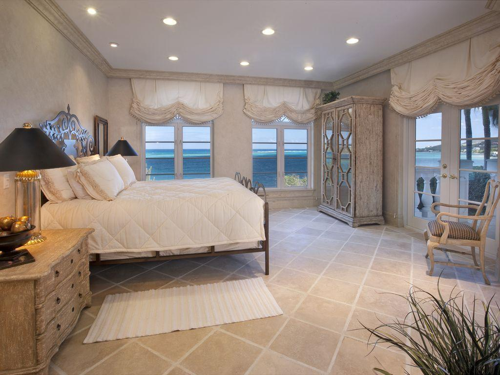 Guest bedroom three with sea views