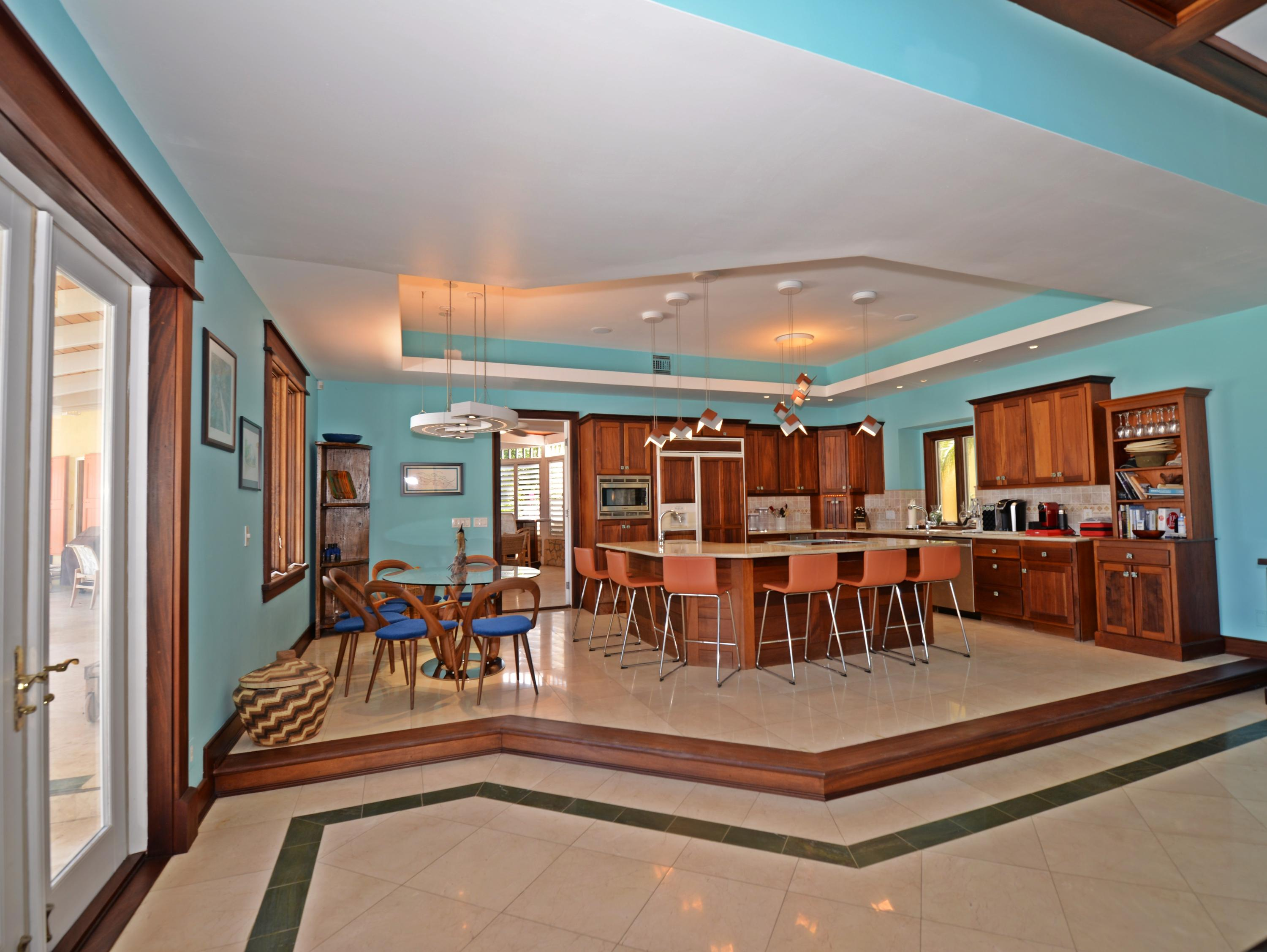 Dining and gourmet kitchen