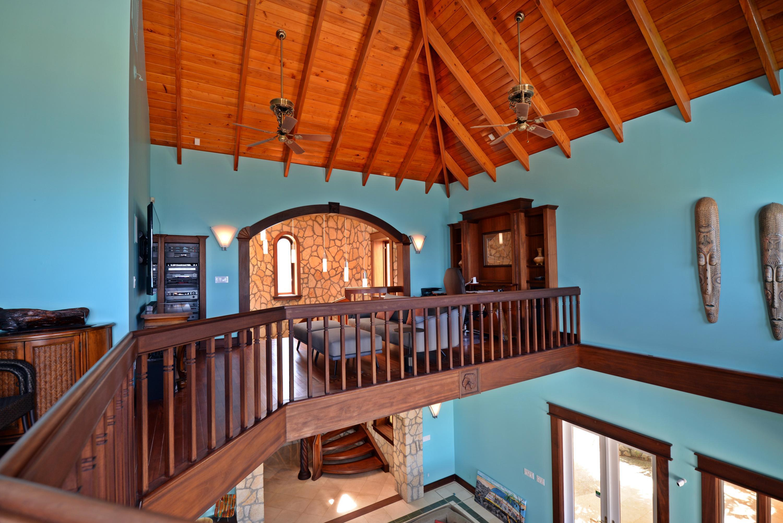 Upper loft to lower level main house