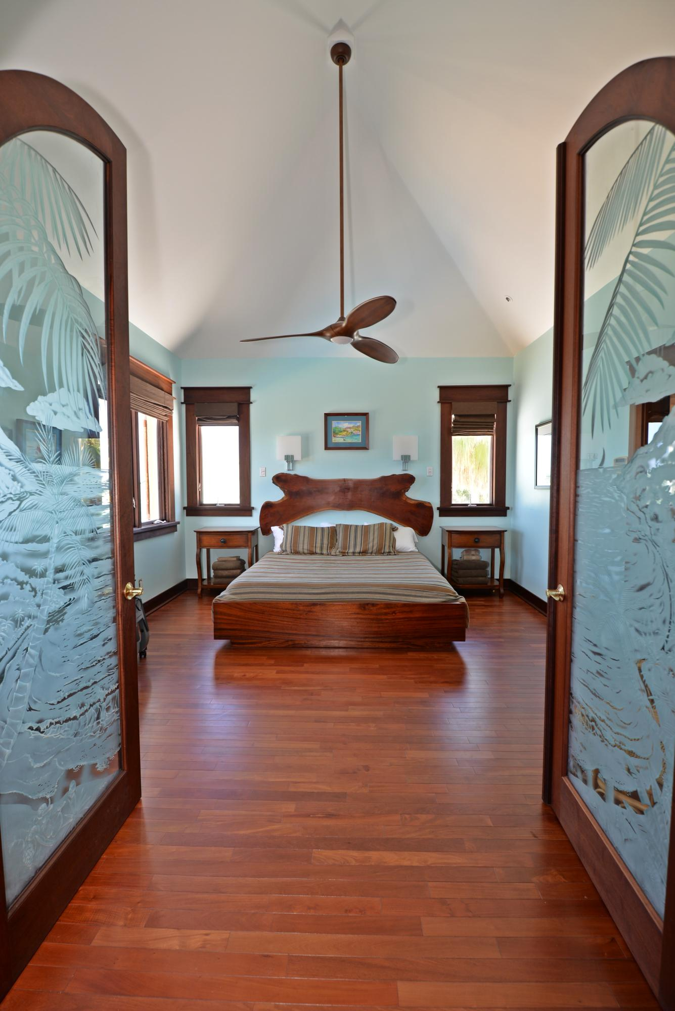 Grand entry to master bedroom suite