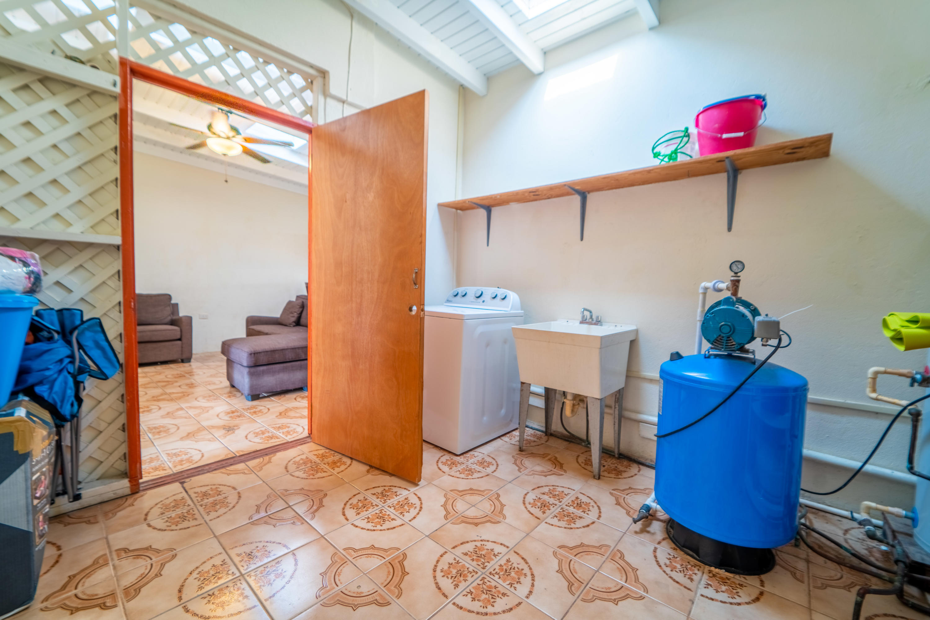 laundry and pump room